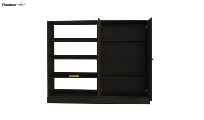 Astra Bookshelf with Storage (Flowery Wenge Finish)-5