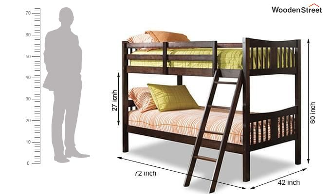 Becky Bunk Bed (Mahogany Finish)-3
