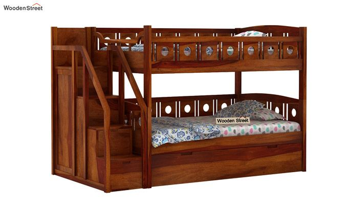 Blossom Bunk Bed (Honey Finish)-1