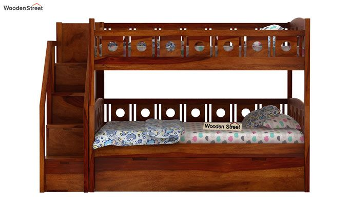 Blossom Bunk Bed (Honey Finish)-2
