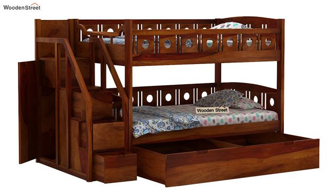 Blossom Bunk Bed (Honey Finish)-5