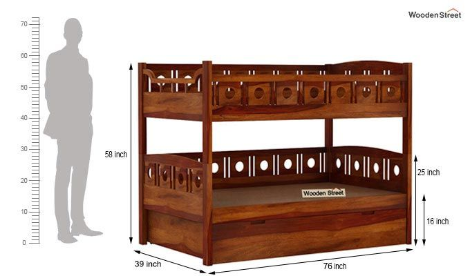 Blossom Bunk Bed (Honey Finish)-13