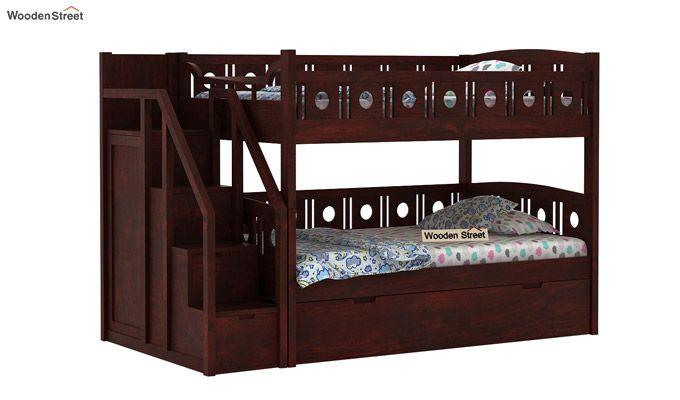 Blossom Bunk Bed (Mahogany Finish)-1