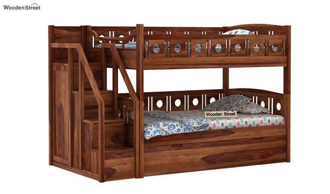 Blossom Bunk Bed (Teak Finish)-1