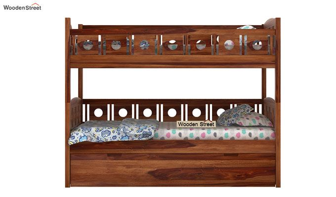 Blossom Bunk Bed (Teak Finish)-4