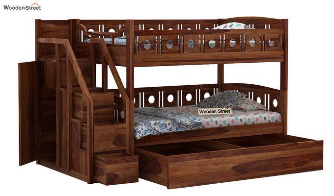 Blossom Bunk Bed (Teak Finish)-5