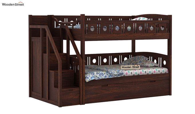 Blossom Bunk Bed (Walnut Finish)-2