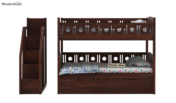 Blossom Bunk Bed (Walnut Finish)-12