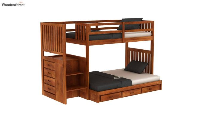 Cheshire Bunk Bed With Storage (Honey Finish)-2