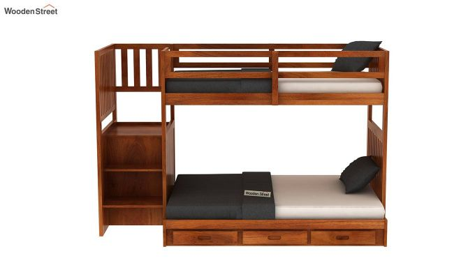 Cheshire Bunk Bed With Storage (Honey Finish)-3