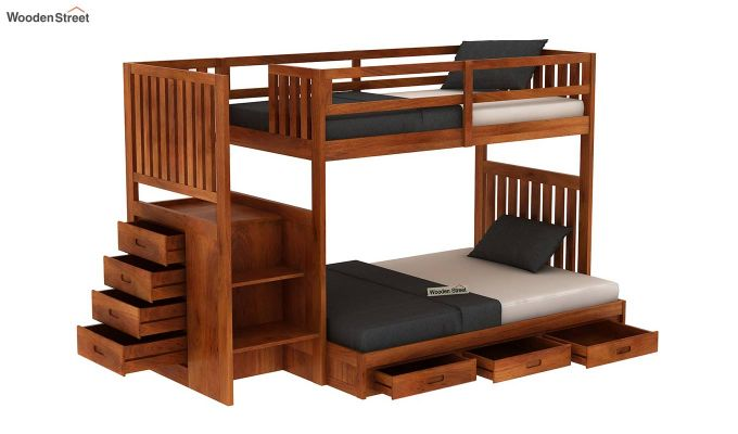 Cheshire Bunk Bed With Storage (Honey Finish)-4