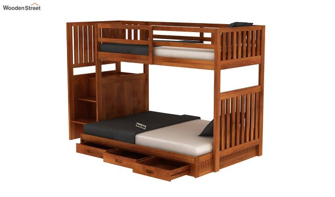 Cheshire Bunk Bed With Storage (Honey Finish)-5