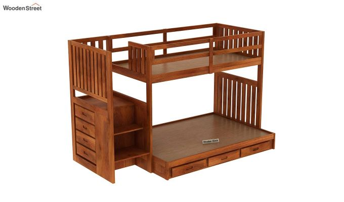 Cheshire Bunk Bed With Storage (Honey Finish)-6