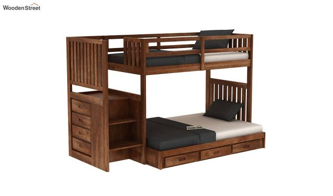 Cheshire Bunk Bed With Storage (Teak Finish)-2