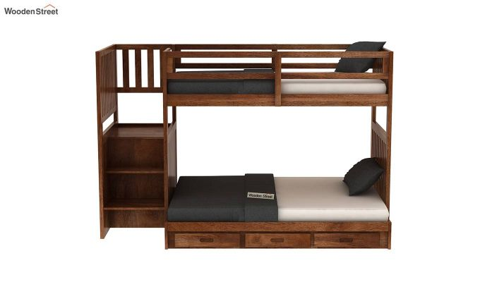 Cheshire Bunk Bed With Storage (Teak Finish)-3