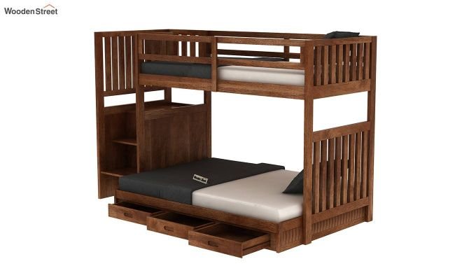 Cheshire Bunk Bed With Storage (Teak Finish)-5