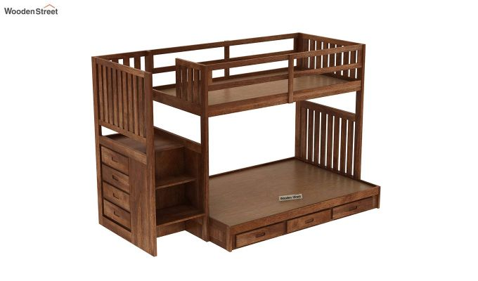 Cheshire Bunk Bed With Storage (Teak Finish)-6