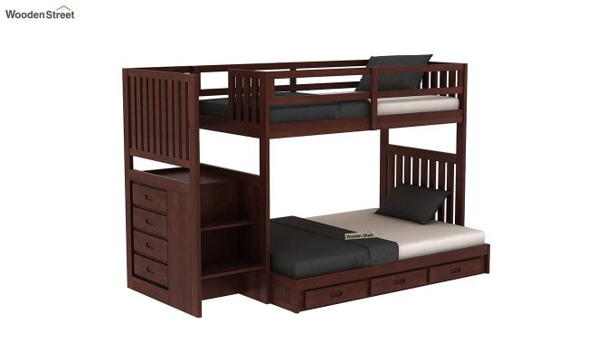 Cheshire Bunk Bed With Storage (Walnut Finish)-2