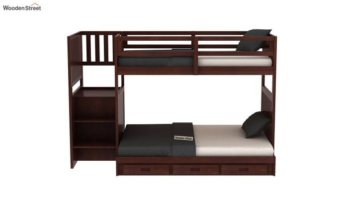 Cheshire Bunk Bed With Storage (Walnut Finish)-3