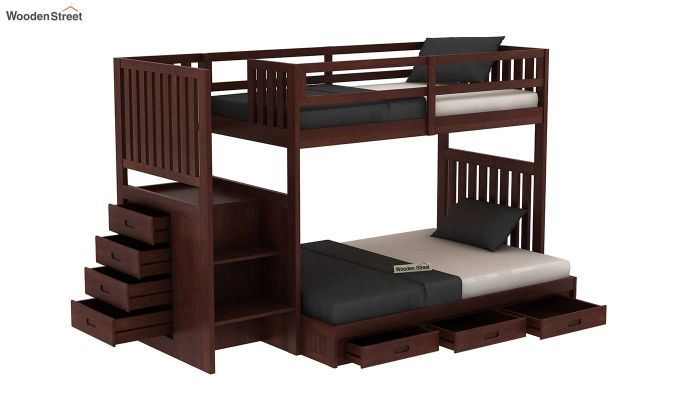 Cheshire Bunk Bed With Storage (Walnut Finish)-4