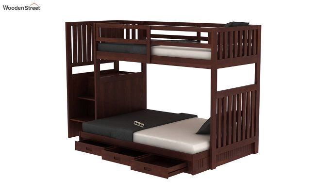 Cheshire Bunk Bed With Storage (Walnut Finish)-5