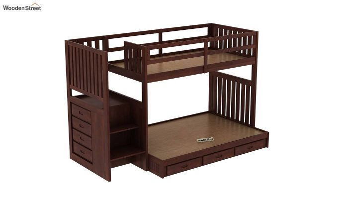 Cheshire Bunk Bed With Storage (Walnut Finish)-6