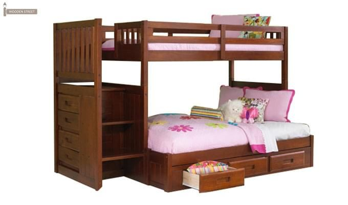 Cheshire Bunk Bed With Storage (Dark Teak Finish)-2