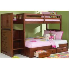 Cheshire Bunk Bed With Storage (Dark Teak Finish)