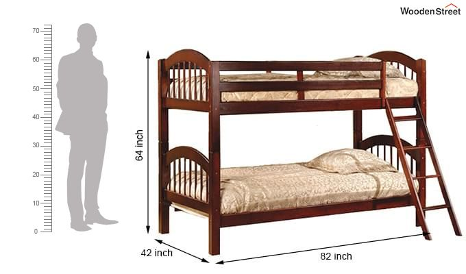 Darla Bunk Bed (Honey Finish)-2