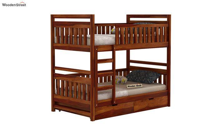 Douglas Bunk Bed (Honey Finish)-1