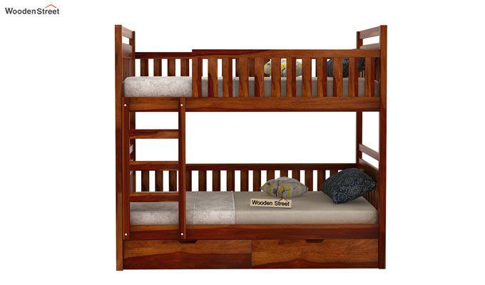 Douglas Bunk Bed (Honey Finish)-2