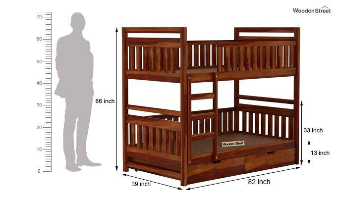Douglas Bunk Bed (Honey Finish)-6