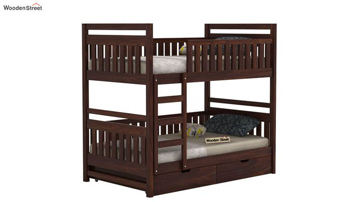 Douglas Bunk Bed (Walnut Finish)-2