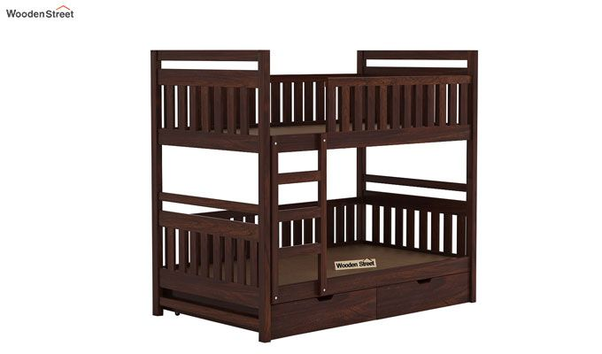 Douglas Bunk Bed (Walnut Finish)-4