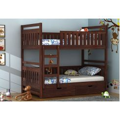 Douglas Bunk Bed (Walnut Finish)