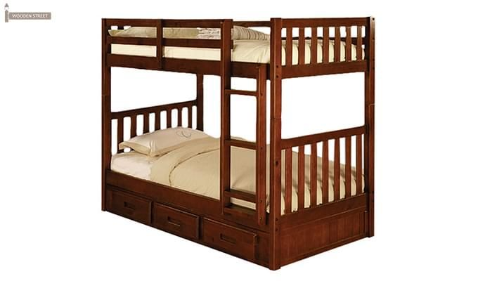 Garfield Bunk Bed (Dark Teak Finish)-1
