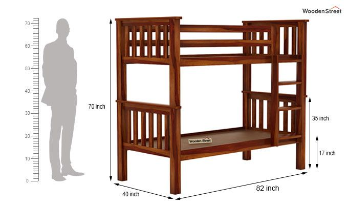 Hercules Bunk Bed (Honey Finish)-7