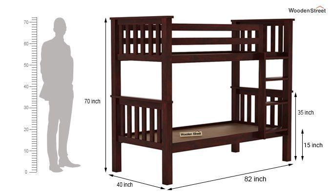 Hercules Bunk Bed (Mahogany Finish)-7