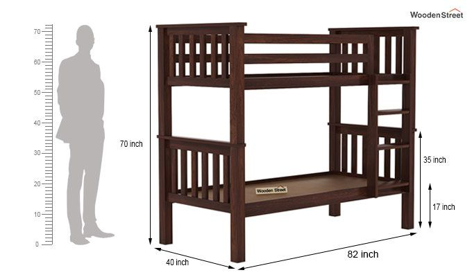 Hercules Kids Bed (Walnut Finish)-7
