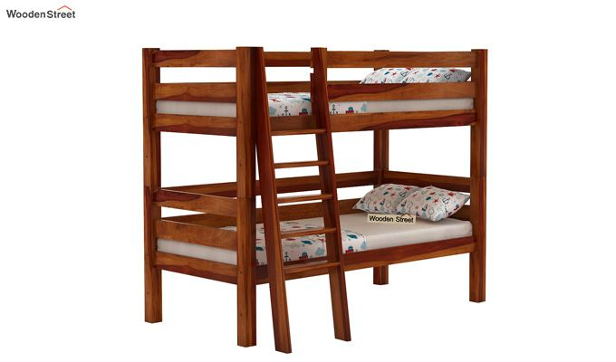 Hout Bunk Bed (Honey Finish)-1