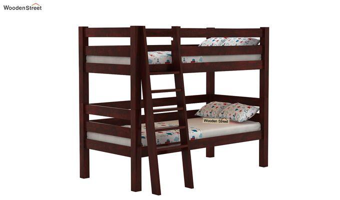 Hout Bunk Bed (Mahogany Finish)-1