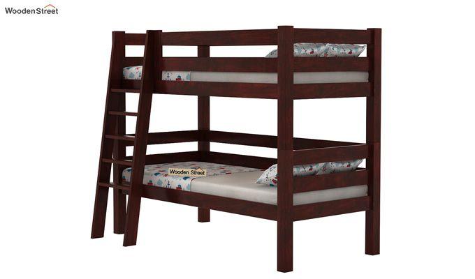 Hout Bunk Bed (Mahogany Finish)-3