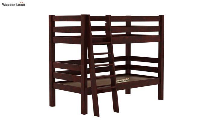 Hout Bunk Bed (Mahogany Finish)-4
