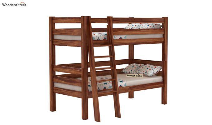 Hout Bunk Bed (Teak Finish)-1
