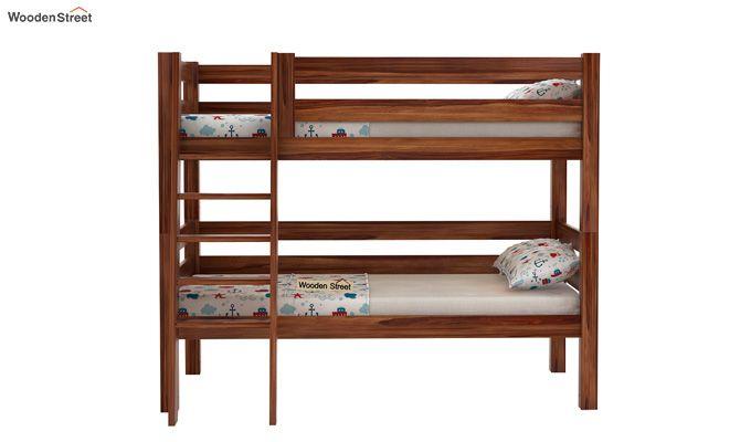 Hout Bunk Bed (Teak Finish)-2