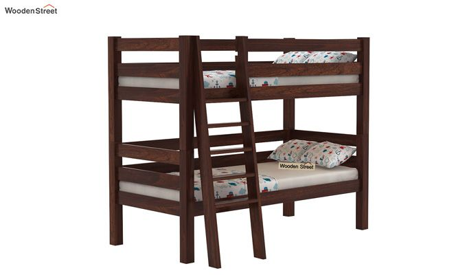 Hout Bunk Bed (Walnut Finish)-2