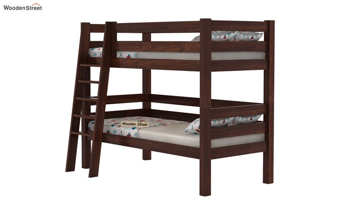 Hout Bunk Bed (Walnut Finish)-4