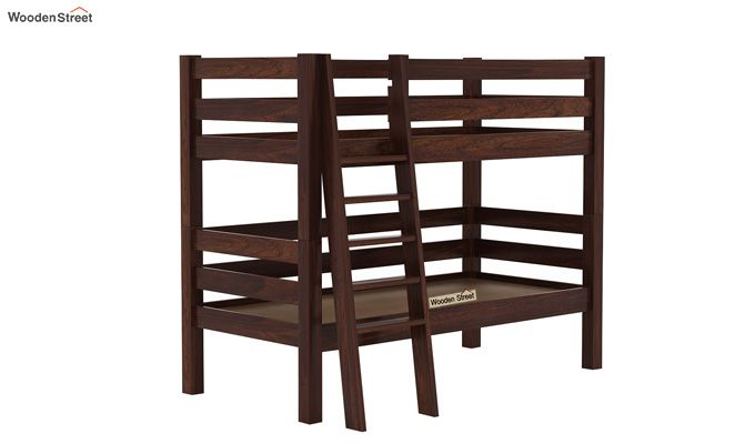 Hout Bunk Bed (Walnut Finish)-5