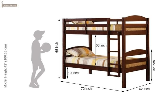Nero Bunk Bed (Teak Finish)-3