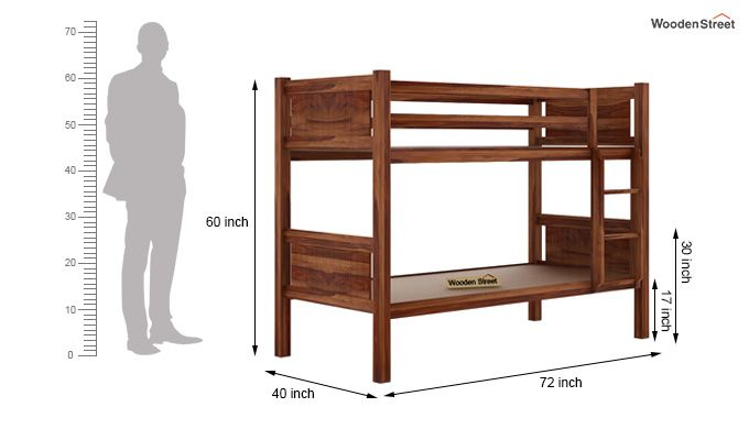 Paddy Bunk Bed (Teak Finish)-6